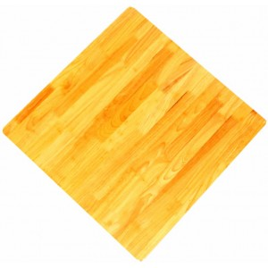 800mm, Timber Rubberwood Table Top, Rebate Edge, Square, Natural